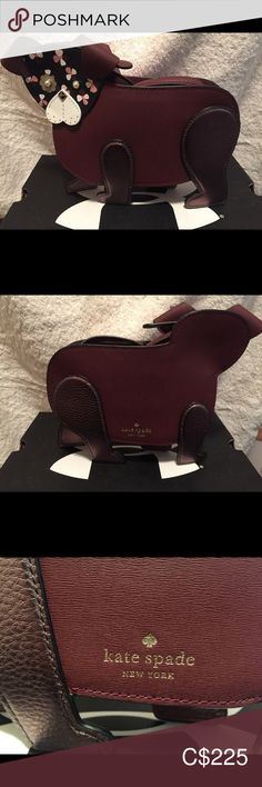 Kate spade BNWT Dog Crossbody Floral Pup Beautiful the colour is cherrywood.what an adorable purse was first available in kate spade Bags Crossbody Bags Kate Spade Bag Crossbody, Pup, Colour, Purses, Best Deals, Floral, Dogs, Closet, Beautiful