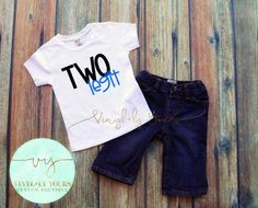 Two Legit Tee Two Year Shirt Second Birthday by VYCustomBoutique