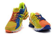 Asics Kinsei 4 Mens Vivid Orange Yellow Volt Old Royal Blue Converse Shoes, Asics Gel Kinsei, Orange Sneakers, Running Shoes For Men, Orange Yellow, Women, Fashion, Moda, Fashion Styles