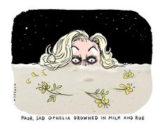 Judith Collins channels poor, sad Ophelia. My #cartoon pic.twitter.com/vhDjPvGEEG