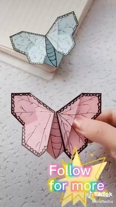 Cool Paper Crafts, Paper Crafts Origami, Diy Crafts Hacks, Diy Crafts For Gifts, Diy Paper, Paper Butterfly Crafts, Paper Flowers Craft, Butterfly Gifts, Origami Butterfly