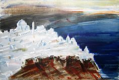 Paris Prekas Greece Painting, Artist Gallery, Santorini, Contemporary Art, Greek, Watercolor, Paris, Painters, Illustration