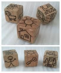 DIY Story Cubes - Tommy asks for these every day. I drew only his favorite items (lots of diggers and vehicles, and animals he likes). Home Learning, Learning Spaces, Talk 4 Writing, Story Dice, Cube Template, Story Cubes, Mommy And Son, First Year Teachers, Primary Teaching