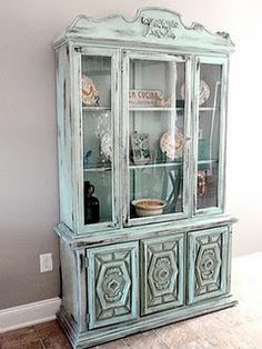 love the way this cabinet was finished. DIY paint tips ---