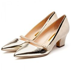 Rupert Sanderson Mid Heel Mary Janes, $745; rupertsanderson.com   - ELLE.com