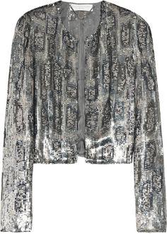 Stella McCartney Cropped Sequin-embellished Crepe Jacket