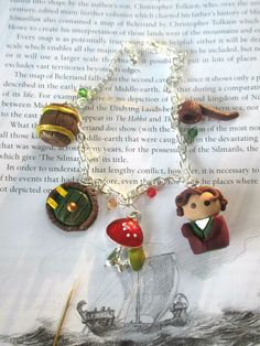 The Hobbit Handcrafted Polymer Clay Bracelet by Middleearthgirls