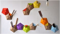 Cardboard wall pockets are an innovative storage solution