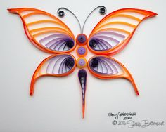 Quilled Butterfly - 6x9  #butterfly #quilled #ombre