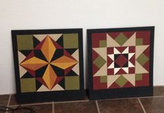 Barn quilts for Christmas gifts