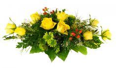 Arrangement funéraire, Fleurs, Rose jaune, Le jardin d'Andrée-Anne, www.lejardin.ca