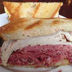 New Post: Corned Beef and Turkey Sandwich  Corned Beef and Turkey Sandwich ~Do you love a good deli sandwich? This is a classic with generous amounts of turkey, corned beef, Russian dressing and grilled rye. So filling I can only eat half at a time. Make your own Russian Dressing and serve warm. Soon you will be adding another favorite to your...