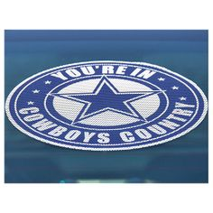 NFL Dallas Cowboys You're In Cowboys Country Window Film