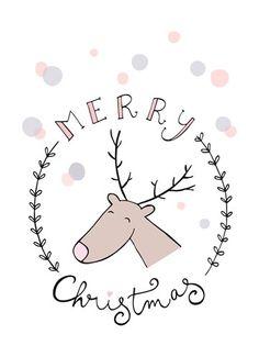 – Reindeer in wreath Christmas Card Packs, Christmas Countdown, Christmas Time, Christmas Decorations Drawings, Christmas Wall Hangings, Reindeer Craft, Happy New Year Cards, Christmas Stationery, Christmas Origami