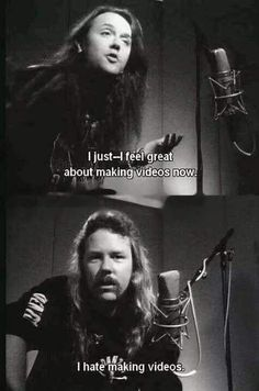 Image shared by Milena. Find images and videos about lol, metallica and lars ulrich on We Heart It - the app to get lost in what you love. James Hetfield Wife, James Hetfield Young, James Hetfield Guitar, Metallica Quotes, Metallica Funny, Metal Meme, Cool Lyrics, Music Memes, Heavy Metal Bands