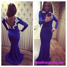 New Arrival Prom Dress,Modest Prom Dress,Newest Lace Appliques 2018 Evening Dress Long Sleeve Prom Dress MT20180122
