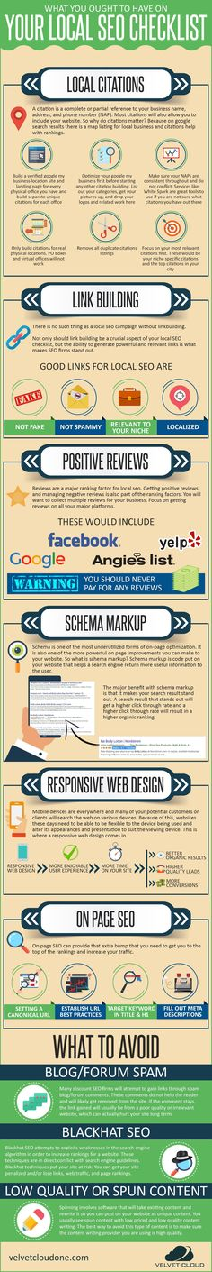 21 best marketing infographic images on pinterest business what you ought to have on your local seo checklist infographic malvernweather Gallery