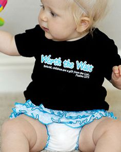 Worth the Wait - Great Christian Shirts for $15.50 can be used for a boy too