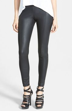 GLAMOROUS+Faux+Leather+Leggings+available+at+#Nordstrom