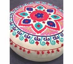 Suzani Meditation Pillow Pouf | SHOP NECTAR - High Falls, NY