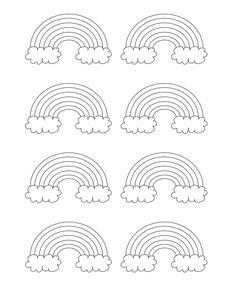 free printable rainbow templates small medium large pinterest
