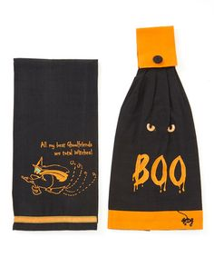Take a look at this Halloween Haunts Kitchen Towel Set by Park Designs on #zulily today!