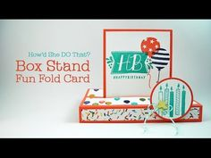 """HSDT Fun Fold #2: Birthday Bash """"Box Stand"""" Card - DOstamping with Dawn, Stampin' Up! Demonstrator"""