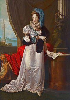 Retrato de María-Carolina de Austria-Lorena, Archiduquesa de Austria, Princesa Imperial y Real de Bohemia y Hungría, Reina de Nápoles y de Sicilia