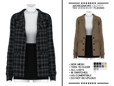 Mods Sims, Sims 4 Mods Clothes, Sims 4 Clothing, Sims 4 Game Mods, Sims Four, Sims 4 Mm, Maxis, Sims 4 Challenges, The Sims 4 Skin