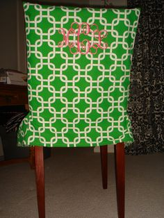 CUSTOM DORM ROOM CHAIR COVER