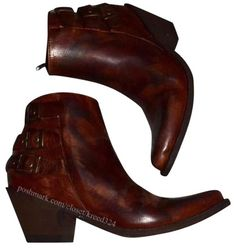 Old Gringo Leather Ankle Distressed Cowgirl Buckled Brown Boots. Get the must-have boots of this season! These Old Gringo Leather Ankle Distressed Cowgirl Buckled Brown Boots are a top 10 member favorite on Tradesy. Save on yours before they're sold out! Brown Leather Ankle Boots, Leather Booties, Brown Boots, Ankle Shoes, Ankle Booties, Bootie Boots, Old Gringo, Shoe Boutique, Spring Shoes