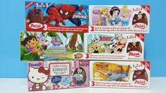 Unboxing Surprise Eggs Zaini Spiderman Disney Princesss Hello Kitty Disn...