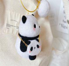 Panda Felting Kit Needle Felting Kit Panda Felting Kits | Etsy All You Need Is, Beginner Felting, Needle Felting Kits, Computer Bags, Cute Panda, Starter Kit, Wool Felt, Shoulder Bag, Sewing