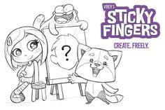 Crie um personagem para o Viber Sticky Fingers