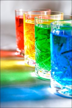 Beautiful Colors Of The Rainbow Taste The Rainbow, Over The Rainbow, World Of Color, Color Of Life, All The Colors, Vibrant Colors, Colorful Drinks, Rainbow Drinks, Rainbow Water