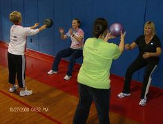 Great partner exercise: Wall sit/medicine ball throw for 1 minute then switch who sits at the wall.  Great total body & fun!