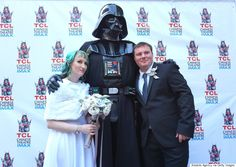 Kiss the bride, you may. #StarWars