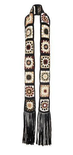 Oma-Square Mantel Schal hoody Jacke Friform Blatt von AlisaSonya