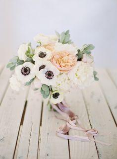 #anemone  Photography: Ozzy Garcia - ozzygarcia.com  Read More: http://www.stylemepretty.com/2014/10/16/romantic-garden-wedding-by-the-water/
