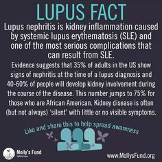 Lupus fact - kidney inflammation (lupus nephritis)