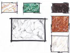 Best Home Decoration Magazine Interior Architecture Drawing, Interior Design Renderings, Interior Design Presentation, Architecture Concept Drawings, Interior Design Sketches, Interior Design Courses, Sketch Design, Architecture Design, Texture Sketch