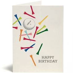 Greeting Cards - Everyday - Birthday - Golf Tees - Snow & Graham: Letterpress Stationery, Invitations, Greeting Cards and Calendars
