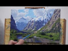 How to Paint Mountains in 5 Easy Steps - YouTube