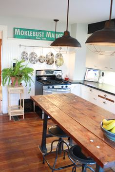 industrial but cosy kitchen