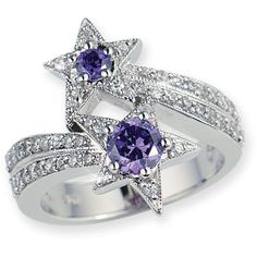 Amethyst Star Ring ❤ liked on Polyvore