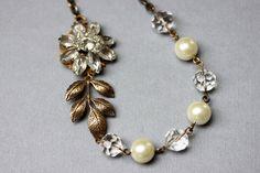 Vintage Art Deco Wedding Necklace Vintage Bridal by madebymoe