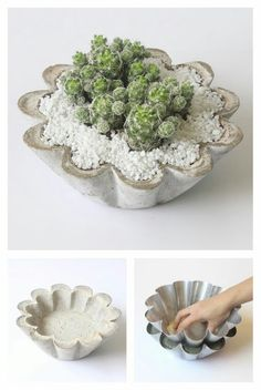 Slide View: Cement Tulip Pot Related Post DIY Clay Pot Mushroom Toadstool Tutorials Beautiful clay pot from my new friend (and AMA. Made by painting pots Homeware Buys Under Which Will Instantly Upgrade Your BedroomBest Home Decoration Stores P Concrete Candle Holders, Diy Concrete Planters, Concrete Crafts, Flower Planters, Flower Pots, Cement Art, Painted Pots, Diy Clay, Clay Pots
