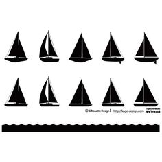 SAILBOAT SILHOUETTES VECTOR PACK