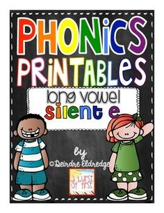 """Loads of independent practice with silent e! 5 worksheet per long vowel sound PLUS """"I Have/ Who Has?"""", Bingo and more!"""