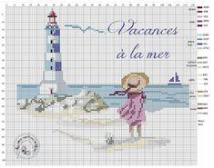 C'est l'été … – Brin de Fil - Journey Tutorial and Ideas Cross Stitch Sea, Cross Stitch Bookmarks, Cross Stitch Needles, Cross Stitching, Cross Stitch Embroidery, Embroidery Patterns, Cross Stitch Patterns, Art Postal, Cross Stitch Landscape